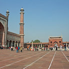 Picture - Courtyard of the Jama Masjid Mosque in Old Delhi.