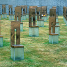 Picture - Bronze markers at the Oklahoma City Memorial.