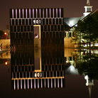 Picture - Reflection of the East Gate at the Oklahoma City Memorial.