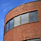 Picture - Red brick building in Harvard Square, Cambridge, Massachusetts.
