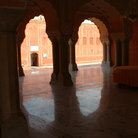 Picture - Arches and marble floors in Jaipur.
