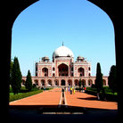 Picture - Humayun Tomb building, the architectural precursor to the Taj Mahal, in Delhi.