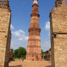 Picture - Qutub Minar, a tall minaret tower, in Delhi.