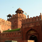 Picture - The massive walls of the Red Fort in Delhi.