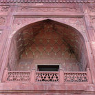 Picture - Window of Delhi's Red Fort.