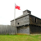 Picture - Blockhouse at the Old Fort Western Museum in Augusta.