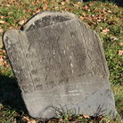 Picture - Tombstone in the Old Granary Burial Ground, Boston, MA.
