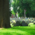 Picture - Old Granary Burying Ground cemetery in Boston, MA.