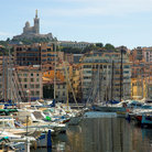 Picture - Boats in the Old Port in Marseilles.