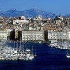 Picture - View of port in Marseilles.