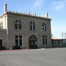 Picture - Front view of the Old Idaho Penitentiary State Historic Site in Boise.