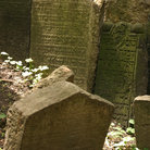 Picture - Headstones in Jewish cemetery, Prague.