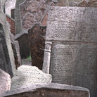 Picture - Detail of the Old Jewish cemetery in Prague.