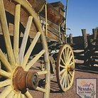 Picture - An old wagon at the Old Las Vegas Mormon Fort State Historical Park in Las Vegas.