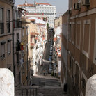 Picture - Street in the old quarter of Lisbon.