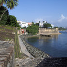 Picture - The city walls of Old San Juan.