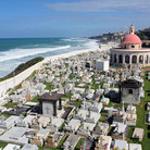 Picture - The old cemetery along the ocean front in San Juan.