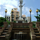 Picture - Christopher Columbus statue in San Juan Plaza, Old San Juan.