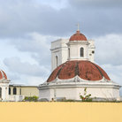 Picture - Domes of San Juan church in old San Juan.