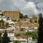 Picture - A cloudy day in the old town of Caceres.