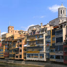 Picture - River Onyer with colorful houses, Cathedral and the former collegiate church of San Feliú in Gerona.