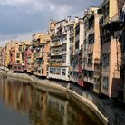 Picture - Colorful block houses on River Onyar in Gerona.