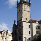 Picture - Gothic tower of the Old Town Hall in Prague.