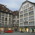 Picture - Shopping square in old town Lucerne.