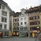 Picture - Decorated square in old town Lucerne.
