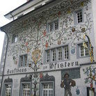 Picture - Painted facades on a building in old town Lucerne.