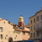 Picture - Church and houses near port in St Tropez.