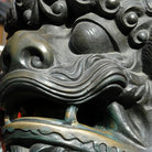Picture - Lion carving in Old Town, Shanghai.