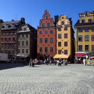 Picture - Old town buildings in Stockholm.