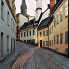 Picture - A cobbled street in the Old Town of Stockholm.