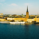 Picture - Aerial view over Stockholm's Old Town.