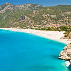 Picture - Blue waters and the beautiful beach of Oludeniz, Fethie.