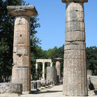 Picture - Columns at ancient Olympia.