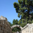 Picture - Walkway and arch at ancient Olympia.