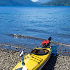 Picture - Kayak on Lake Crescent in Olympic National Park.
