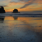 Picture - Shi Shi Beach in Olympic National Park, Washington.