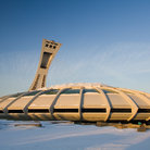 Picture - Montreal Olympic Stadium (1976) with suspended fabric roof, Montreal.