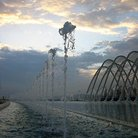 Picture - Fountains at the 2004 Olympic Sports Complex in Athens.