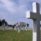 Picture - Cemetery at Omaha Beach.