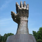 Picture - Detail of one of the Praying Hands at Oral Roberts University in Tulsa.
