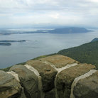 Picture - View over the islands of Puget Sound, from Mt. Constitution in Moran State Park, located on Orcas Island.