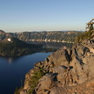 Picture - The shoreline of Crater Lake.