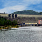 Picture - View from below the Orlik dam.