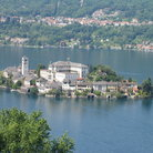 Picture - Island in the lake at Orta San Giulio.