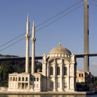 Picture - Mosque and bridge in Ortakoy.