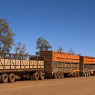 Picture - A road train in the Australian Outback.